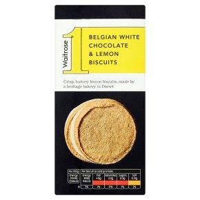 Waitrose No1 White Choc & Lemon Biscuits