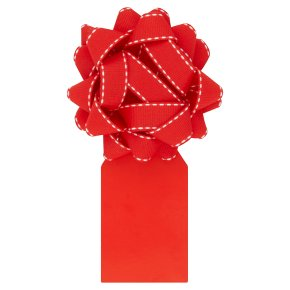 Waitrose Red Bow & Tag