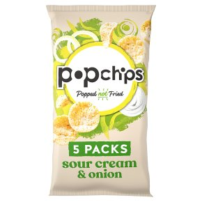 Popchips Corn Chips Sour Cream & Onion