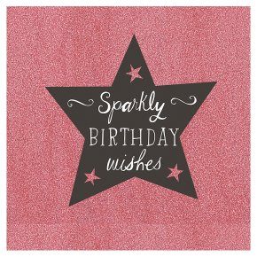 Sparkly Happy Birthday Card