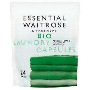 essential Waitrose Biological Laundry Liquid Sachets