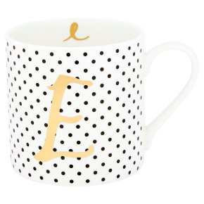 Waitrose 'E' Bone China Mug