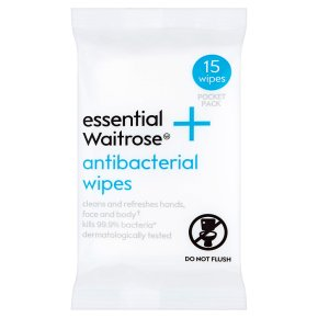 essential Waitrose Antibacterial Wipes