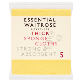 essential Waitrose Thick Sponge Cloths
