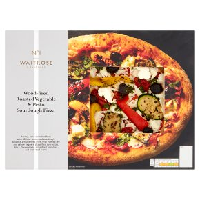 Waitrose No1 Vegetable Pesto Sdough Pizza