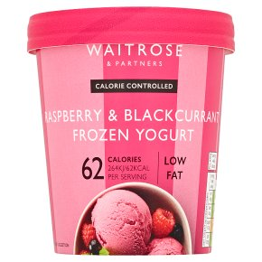 Waitrose LoveLife Calorie Controlled raspberry & blackcurrant frozen yogurt