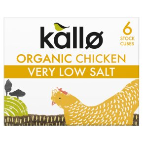 Kallo 6 chicken stock cubes very low salt
