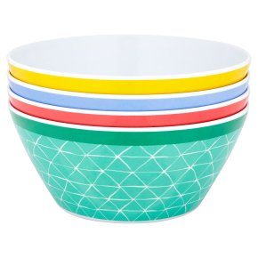 Waitrose Colour Crush Melamine Bowls