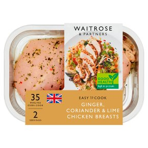 Waitrose Easy To Cook ginger, chilli & lime chicken breasts