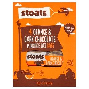 Stoats 4 Orange & Dark Chocolate Porridge Oat Bars