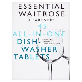 essential Waitrose Dishwasher Tablets Orgnl 45s