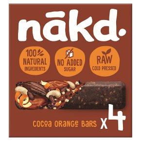Nakd fruit & nut bars cocoa orange