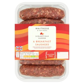 Waitrose 6 Breakfast Sausages