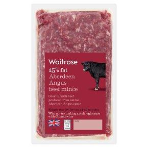 Waitrose Aberdeen Angus Beef Mince 15%