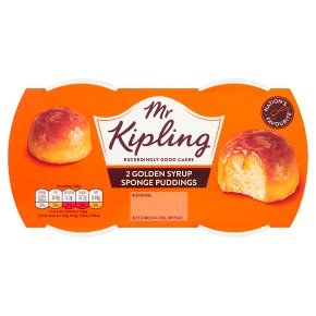 Mr Kipling 2 Golden Syrup Sponge Puddings