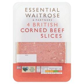 essential Waitrose 4 Slices British Corned Beef