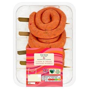 Waitrose 4 Pork & 'Nduja Sausage Whorls
