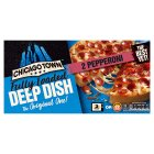 Chicago Town deep dish pepperoni pizzas - 2x160g