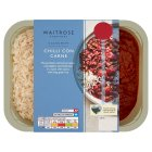 Waitrose chilli con carne with rice - 450g