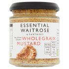 essential Waitrose wholegrain mustard - 185g