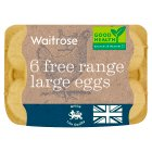 Waitrose British Blacktail large free range eggs - 6s