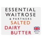 essential Waitrose Salted Dairy Butter - 250g