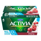Activia fat free cherry yogurts - 4x125g