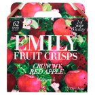 Emily Fruit Crisps Crunchy Apple Mini Packs - 4x15g