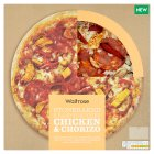 Waitrose hand stretched chicken & chorizo pizza - 395g