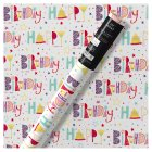 Waitrose Gift Wrap 2M Happy Birthday -