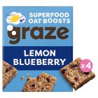 Graze Lemon & Blueberry Oat Squares - 4x30g