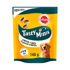 PEDIGREE Tasty Bites Dog Treats Cheesy Nibbles with Cheese and Beef 140g - 140g