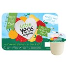 Little Yeos Organic Strawberry & Peach and Pear & Apple kids Fromage Frais - 6x45g