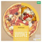 Waitrose hand stretched pepper & ricotta pizza - 420g