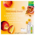 Waitrose 4 deliciously fruity peach / mango low fat yogurts - 4x125g
