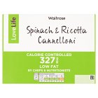 Waitrose LoveLife Calorie Controlled spinach & ricotta cannelloni - 400g