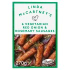 Linda McCartney 6 red onion & rosemary sausages - 300g
